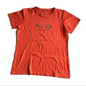 Life Is Good Roam Sweet Roam T-Shirt Sz Medium